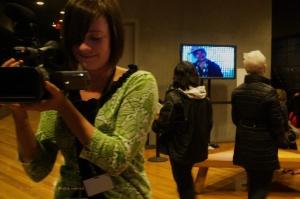'de Young Interview of C Herrera, night of exhibit,' Bridge Walkers Documentation Photos, 2012, photo by Catherine Herrera Flor de Miel Media  20 of 402012-09-07