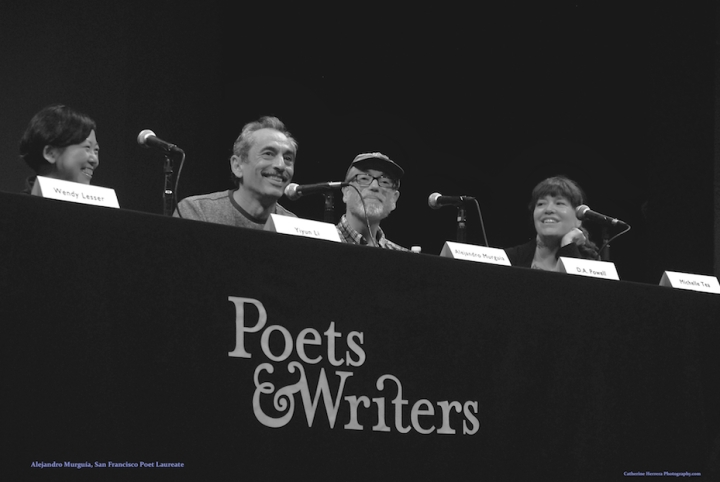 'Alejandro Murguía,' San Francisco Poet Laureate, San Francisco, Poets & Writers Conference, January 2015, Brava Theater, photo by Catherine Herrera, Intl CR Reserved. Contact for License.