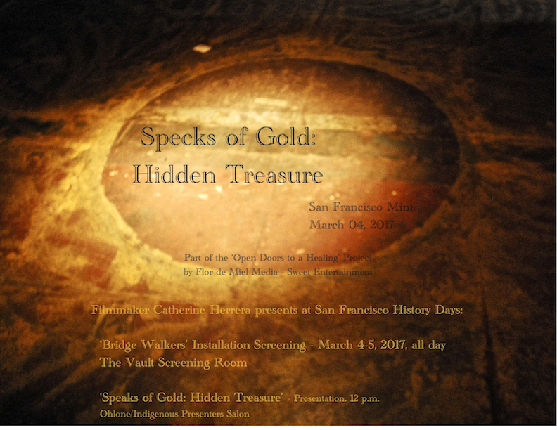 'Specks of Gold Hidden Treasure,' SF History Days Presentation postcard 2017,' photograph by Catherine Herrera, Flor de Miel Fotos, Contact for License (9)