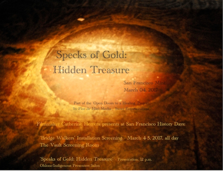 'Specks of Gold Hidden Treasure,' SF History Days Presentation postcard 2017,' photograph by Catherine Herrera, Flor de Miel Fotos, Contact for License (9)